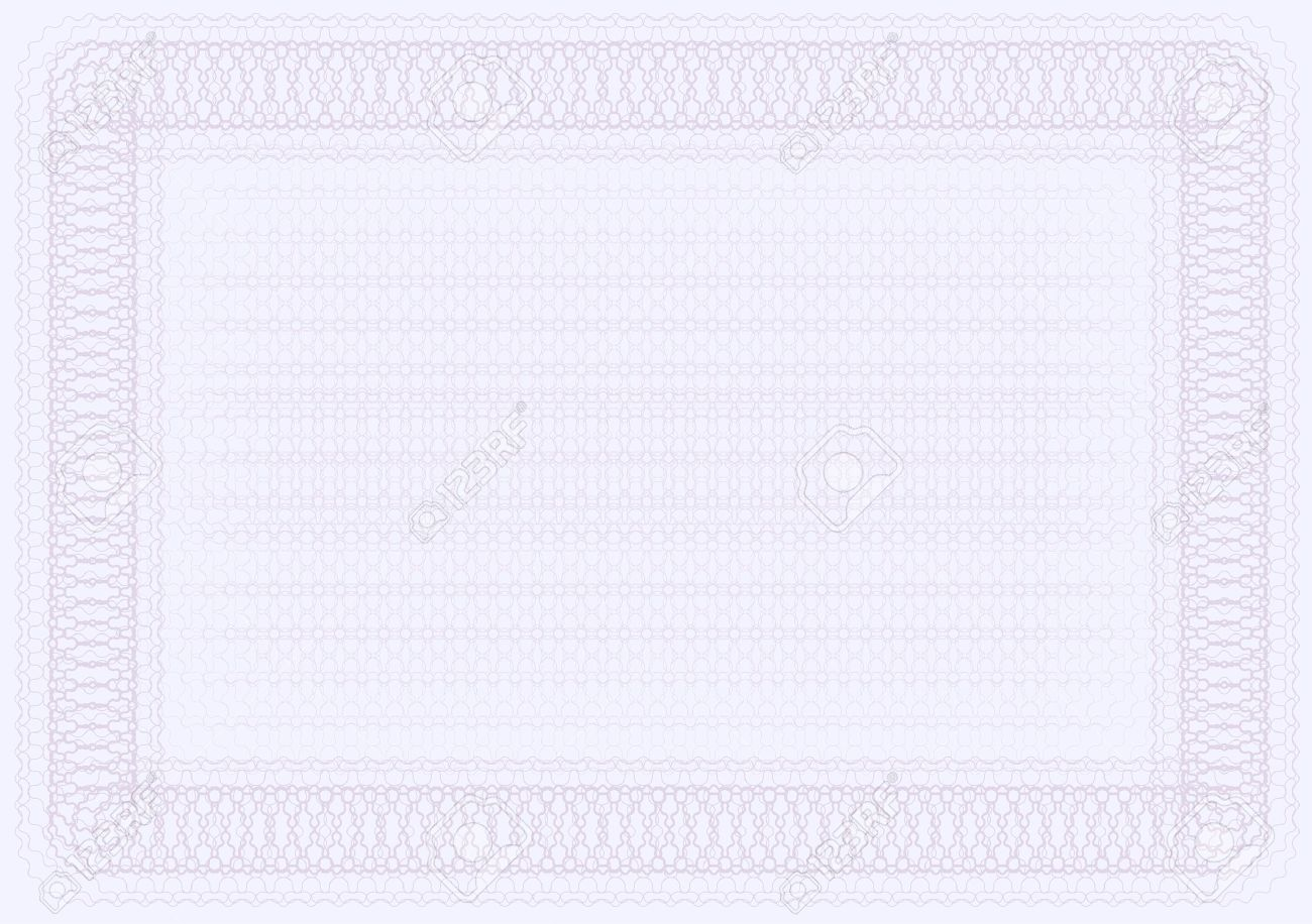 Blank Certificate Template In Shades Of Violet Royalty Free ...