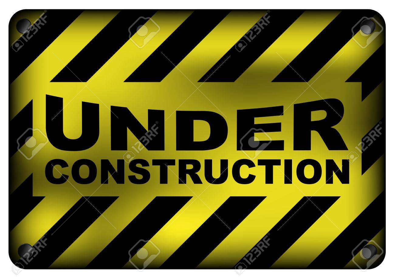 Illustration of  Vintage Under Construction Metal Sign Isolated on White Stock Vector - 9620971