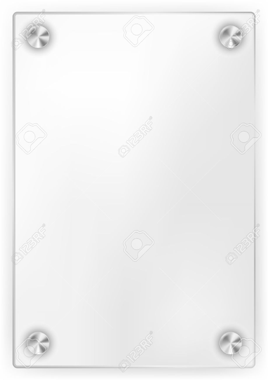 blank glass frame on white background stock vector 9811495