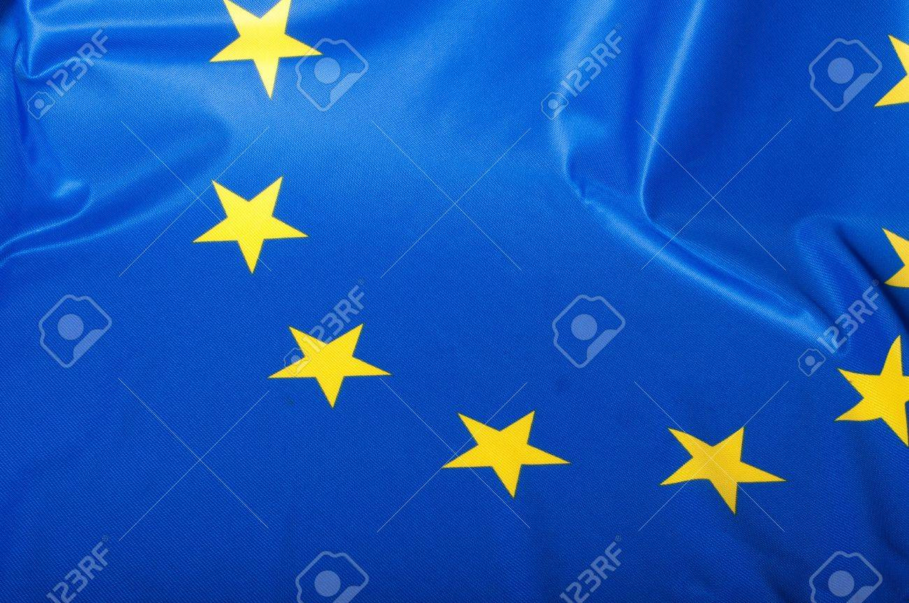 Detail of Silky Flag of Blue European Union EU Flag Drapery Stock Photo - 10941435
