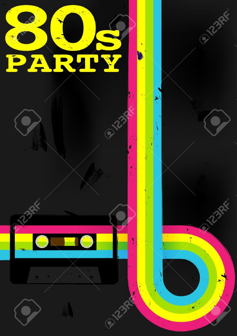 80s Background Download Free Vector Art Stock Graphics Amp Images - Cassette tape retro poster 80s party flyer with audio cassette tape