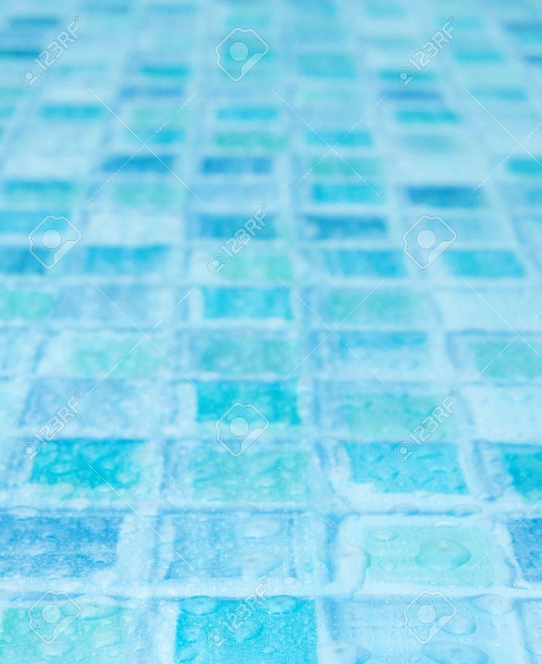 Bagno Con Mattonelle Blu.Piastrelle Blu In Bagno Con Gocce D Acqua Profondita Di Campo