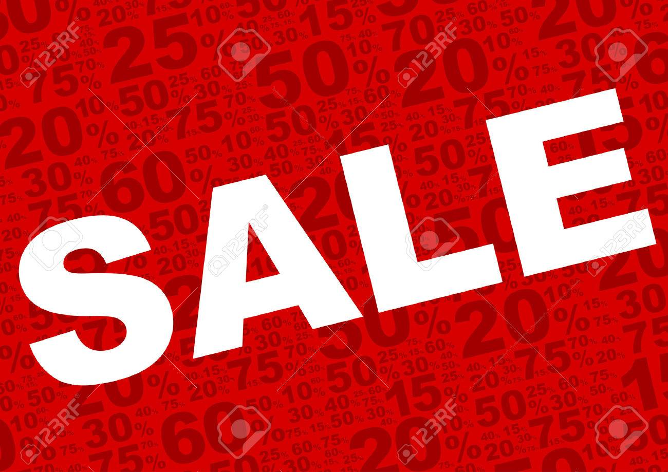 sale background sale sign with various percentage signs on
