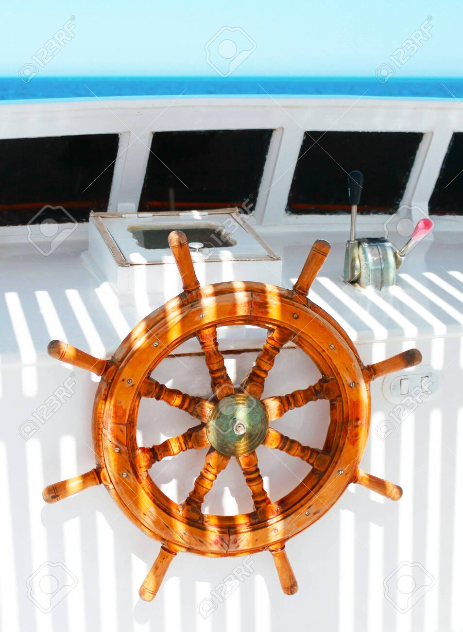 Ship Steering Wheel Stock Photo Picture And Royalty Free Image Image 140333670