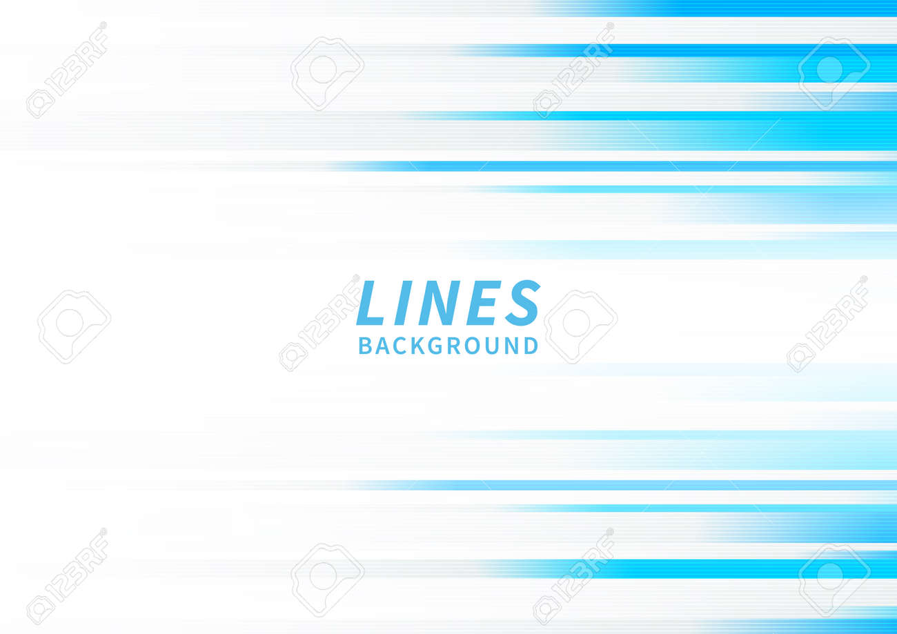 Abstract horizontal light blue stripe lines on white background. You can use for ad, poster, template, business presentation. Vector illustration - 169193007
