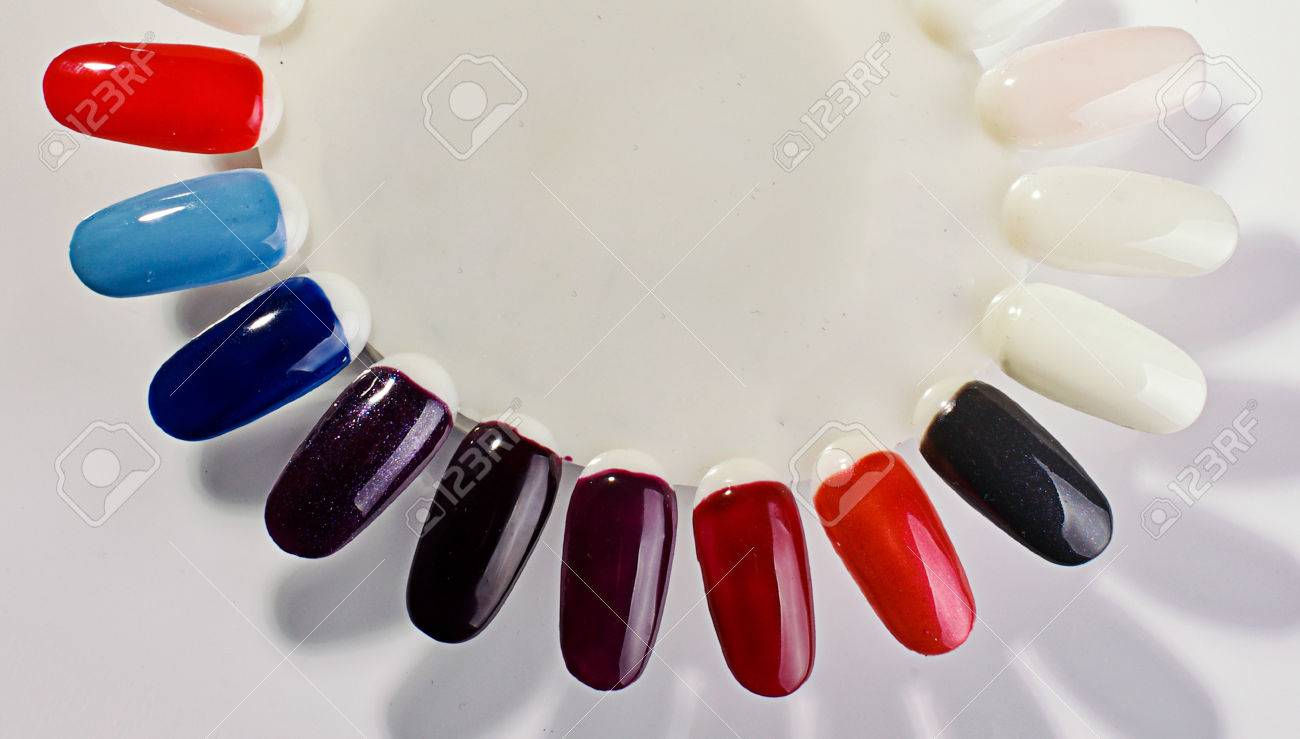 Nail Polish Palette Dark Colors Stock Photo, Picture And Royalty ...