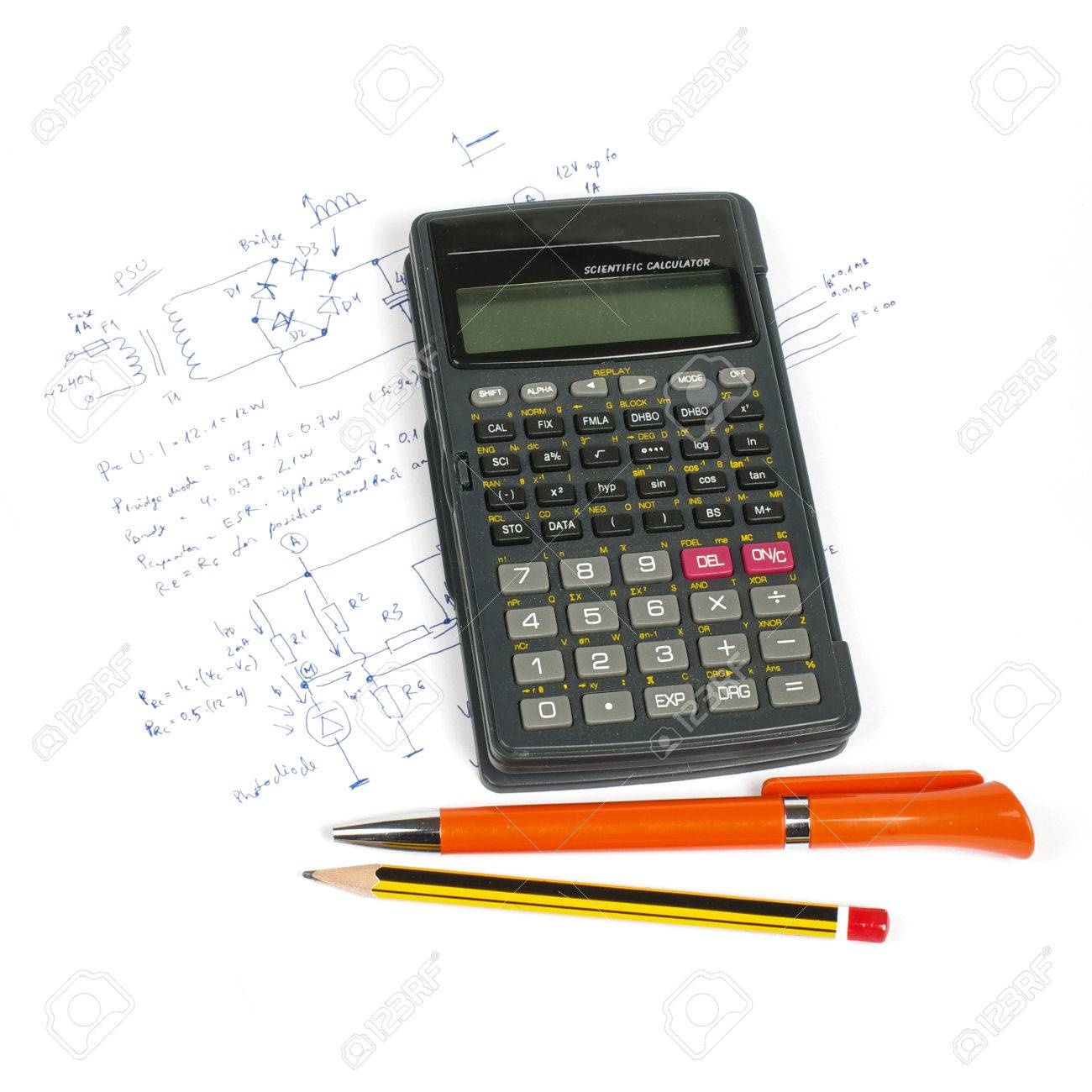 Electronics design concept calculator and pens on circuit diagram electronics design concept calculator and pens on circuit diagram stock photo 38420316 ccuart Images