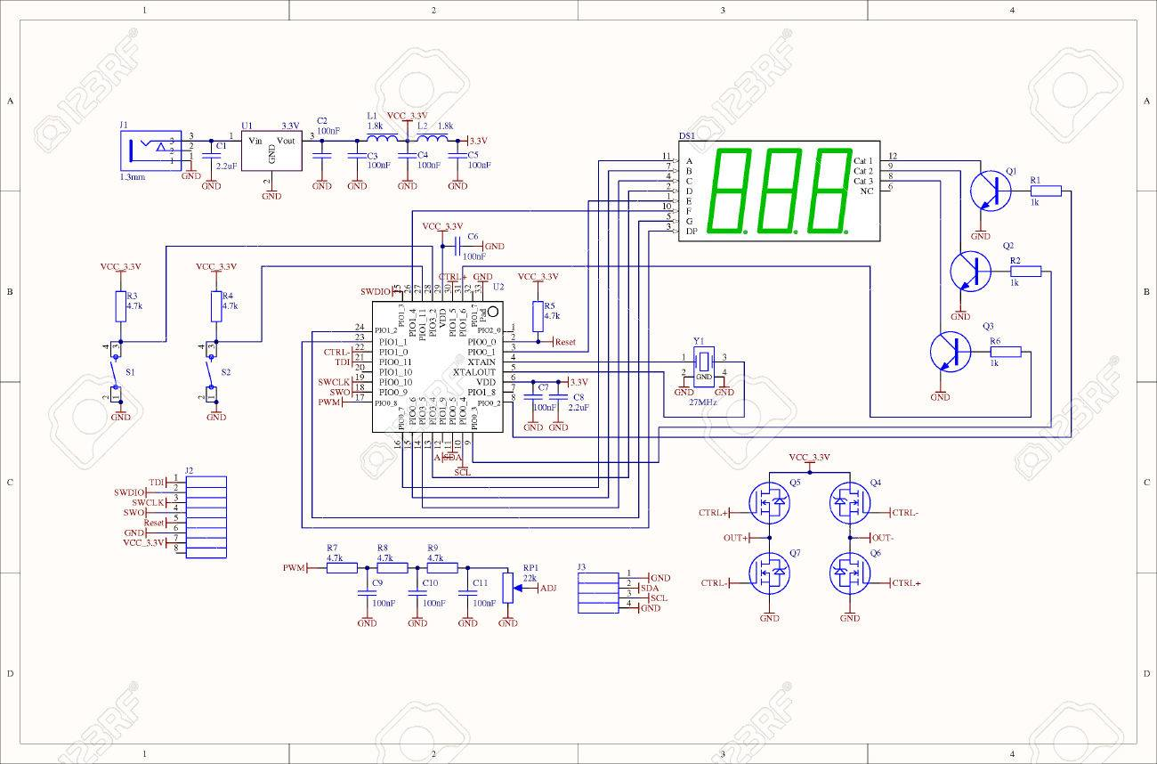 Electronic Circuit Schematic Of Embedded System Stock Photo, Picture ...