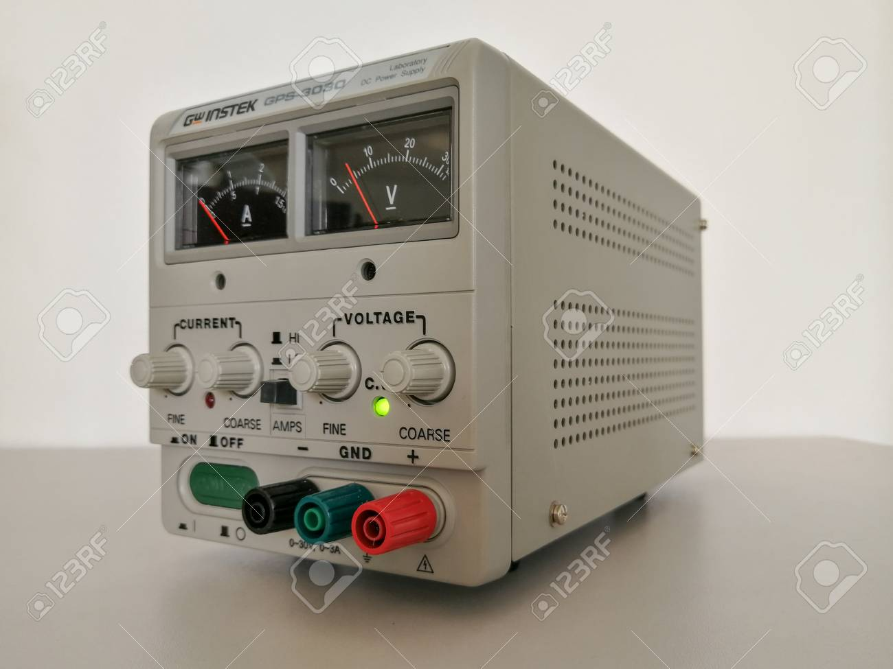 Precise Variable Voltage And Current Power Supply Used In Prototyping Engineering Stock Photo 100650338