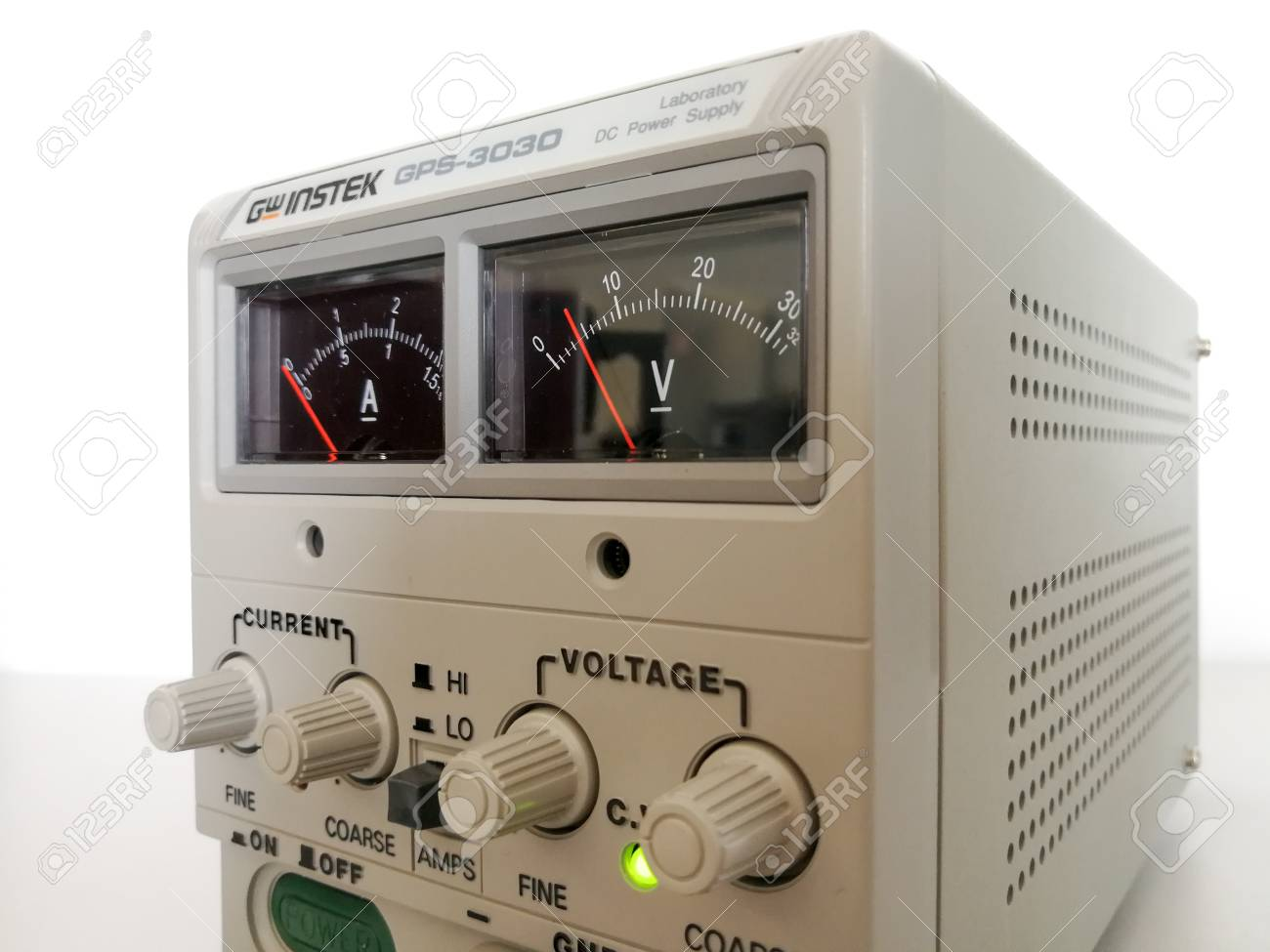 Precise Variable Voltage And Current Power Supply Used In Prototyping Engineering Stock Photo 100701879