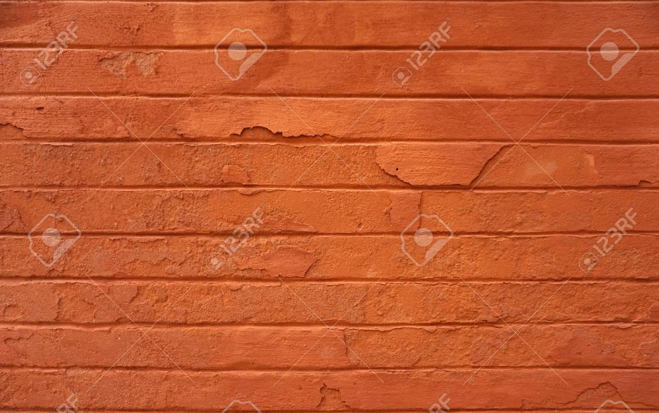 Peinture Orange Fasco Sur Le Mur Extérieur Avec Marque Fissurée