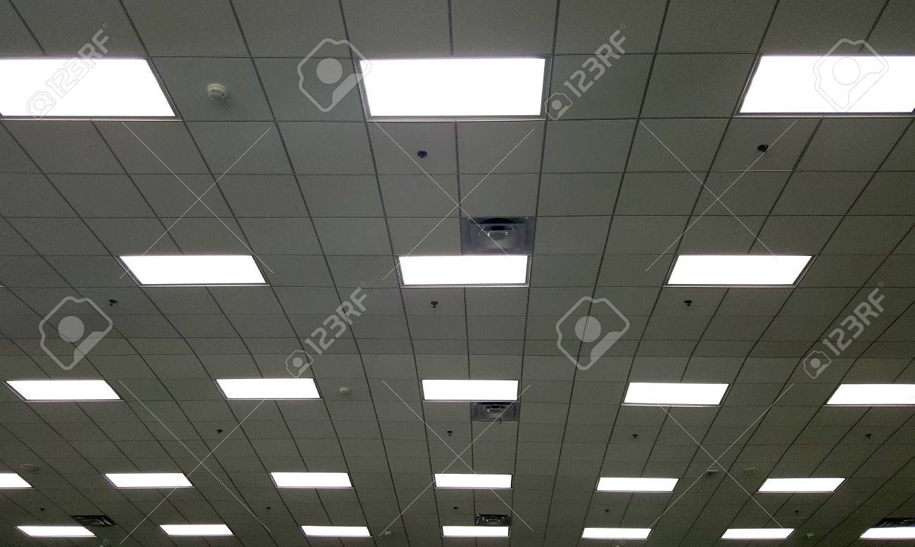 T bar ceiling with fluorescent light box and air conditioner stock stock photo t bar ceiling with fluorescent light box and air conditioner grille aloadofball Choice Image