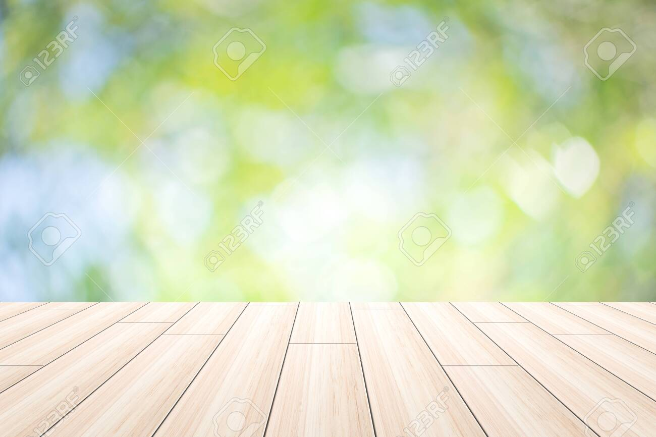 Scene wood background bokeh - 121534335