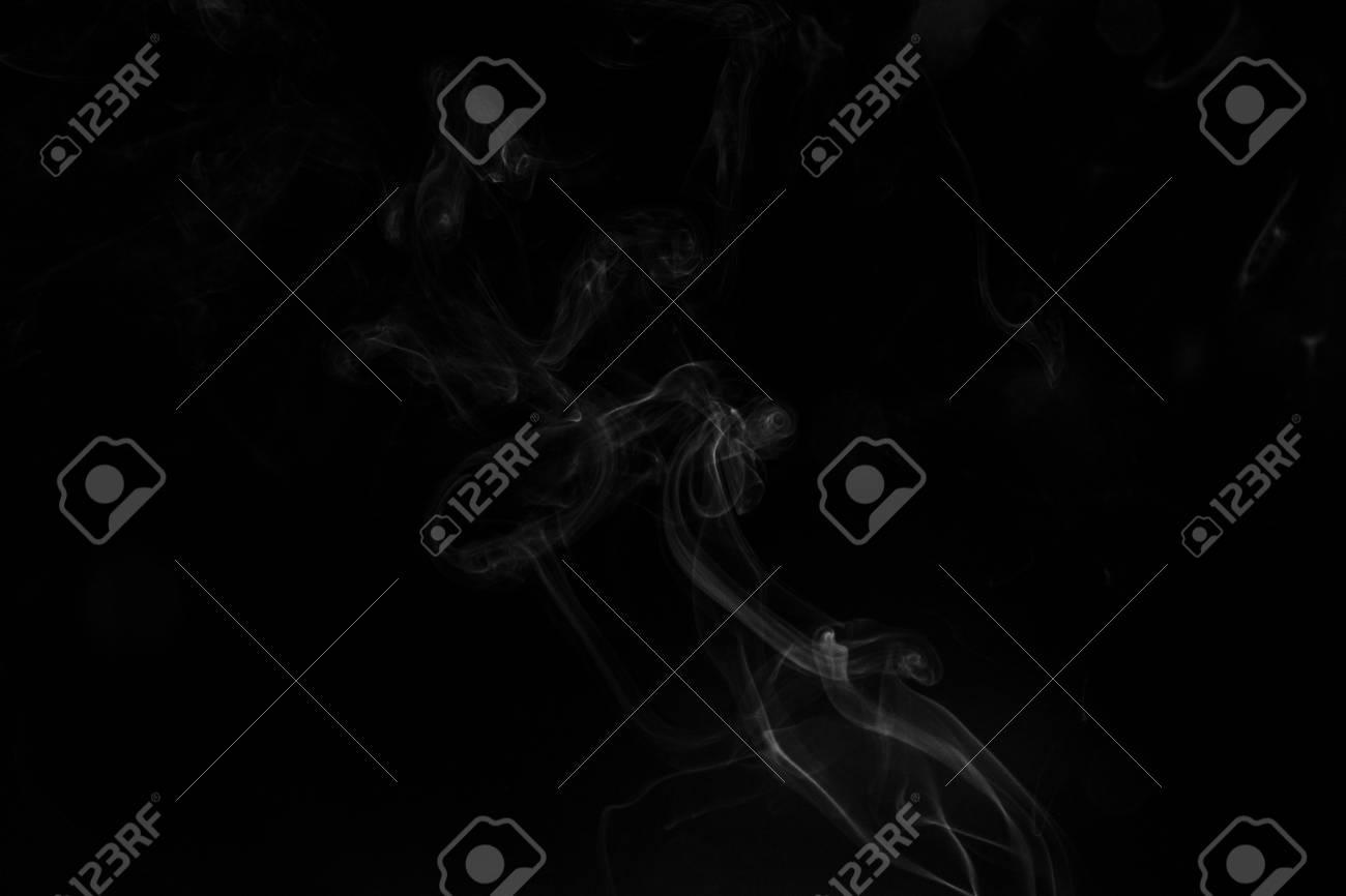 Smoke, black background - 121998923
