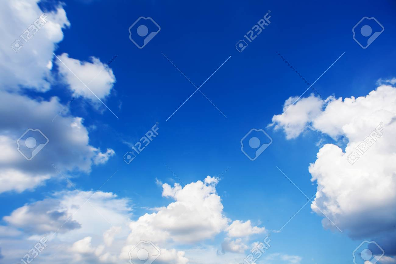 Blue sky with clouds and sun in bangkok, Thailand Stock Photo - 23239179