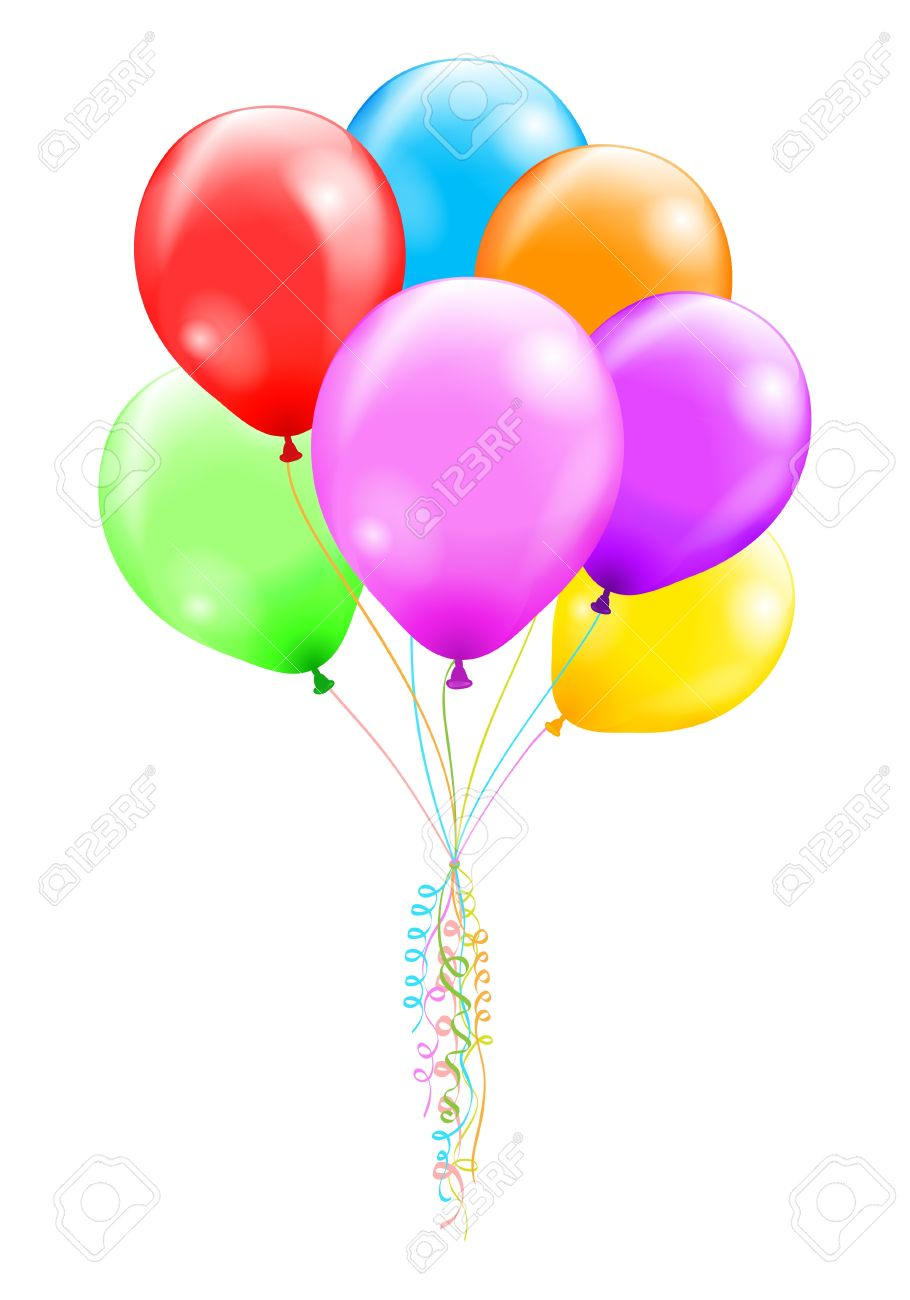 Bunch of colorful ballons illustration contains a transparency effects and gradients  no mesh, no blend Stock Vector - 18155781