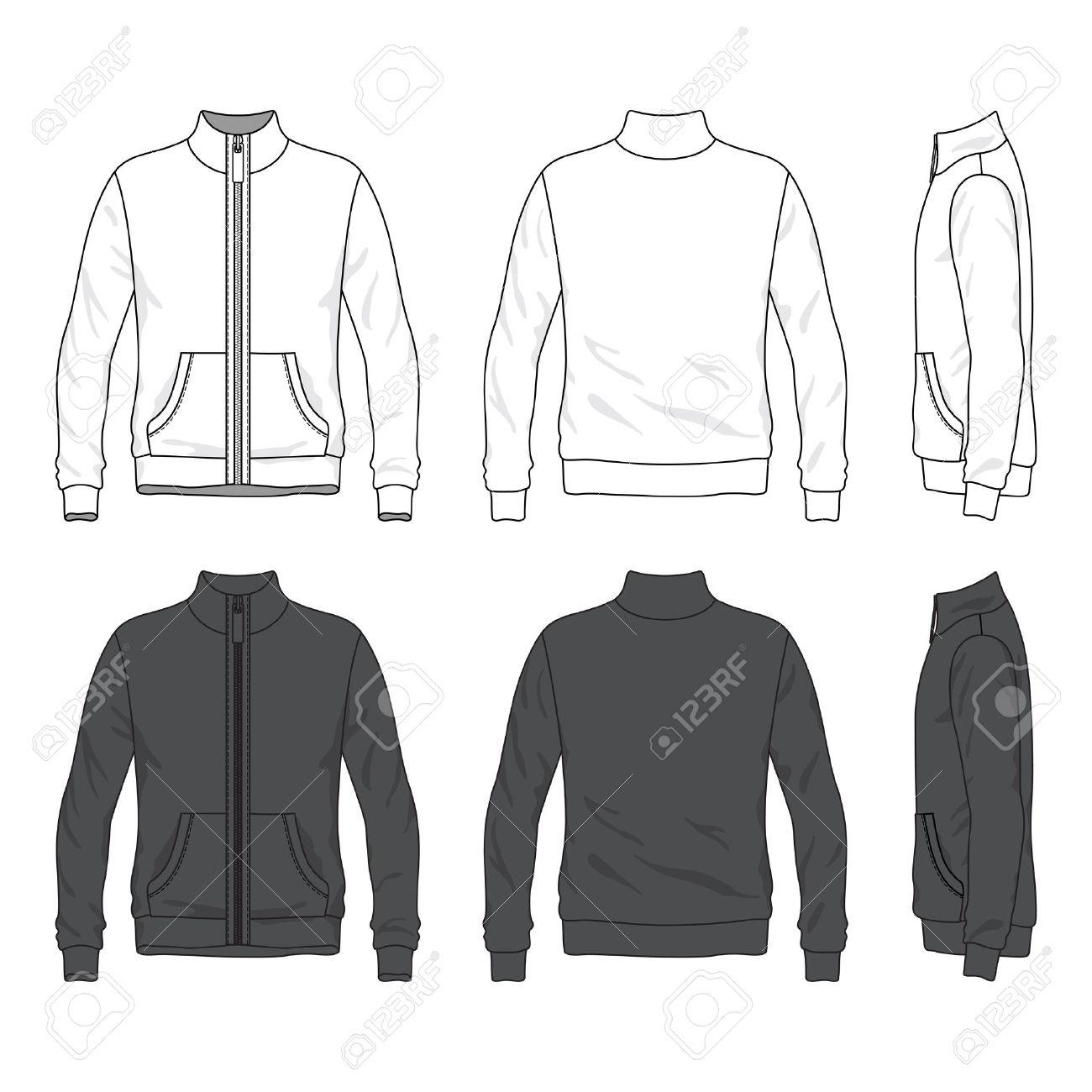 Blank Men s Jacket With Zipper