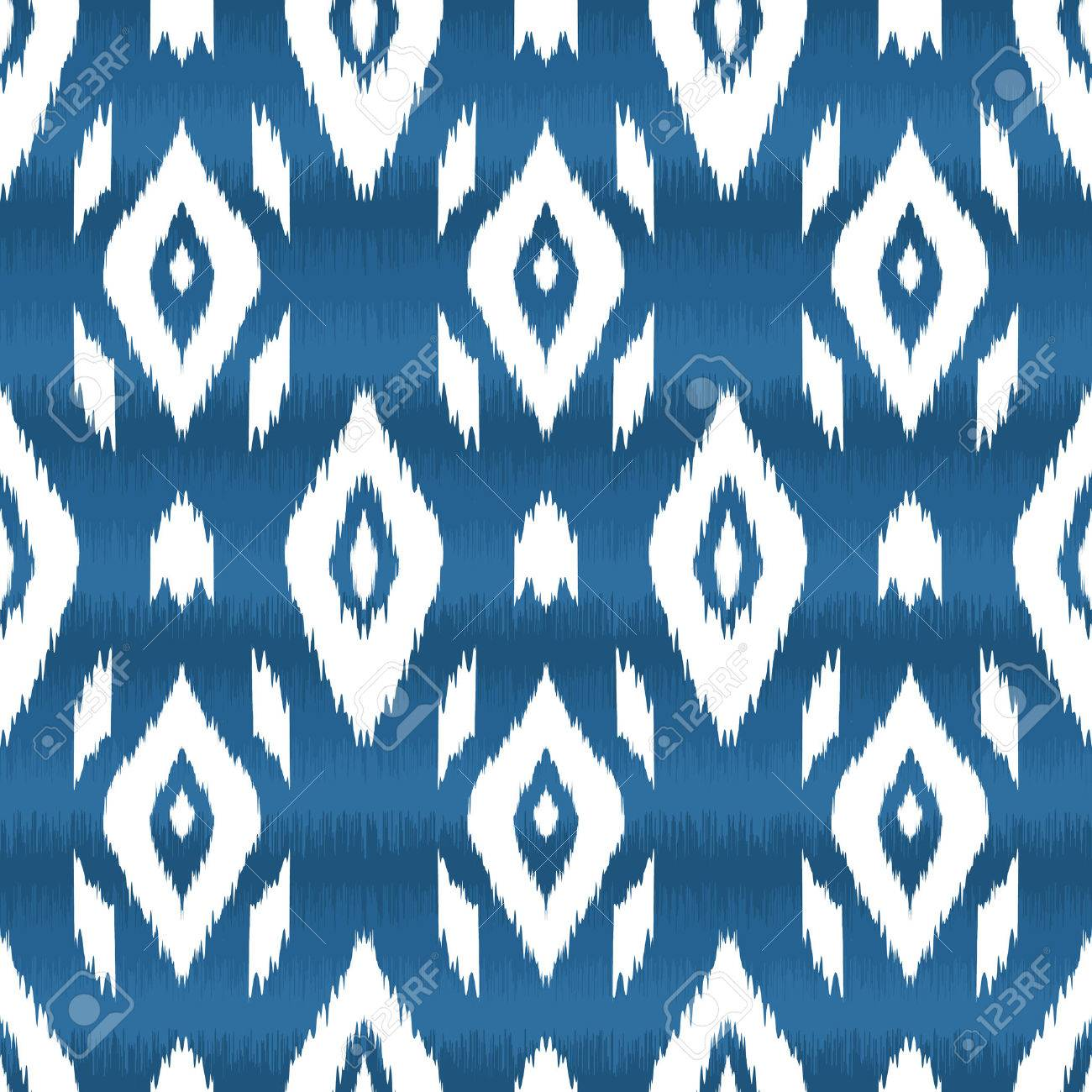 Modern ethnic seamless pattern in bohemian, hipster fashion style. Aztec, navajo, mexican seamless wallpaper. Ikat pattern for textile design, home decor, wrapping paper. Vector background. - 59893688