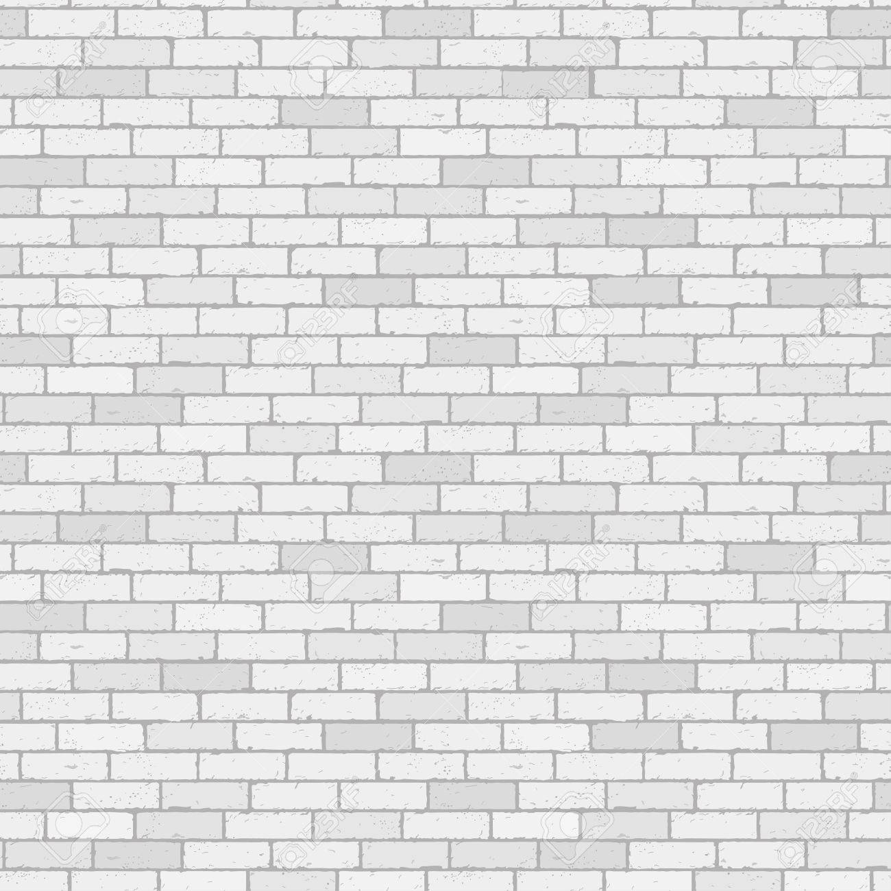 White And Gray Wall Brick Background Rustic Blocks Texture Template