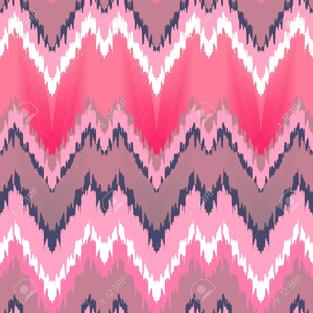 Colorful Zigzag Print In Pink Colors For Textile Wallpaper Card