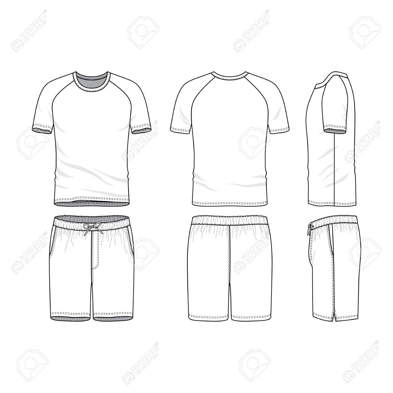 A Vector Templates Of Clothing Set Front Back Side Views Of Royalty Free Cliparts Vectors And Stock Illustration Image 80568604