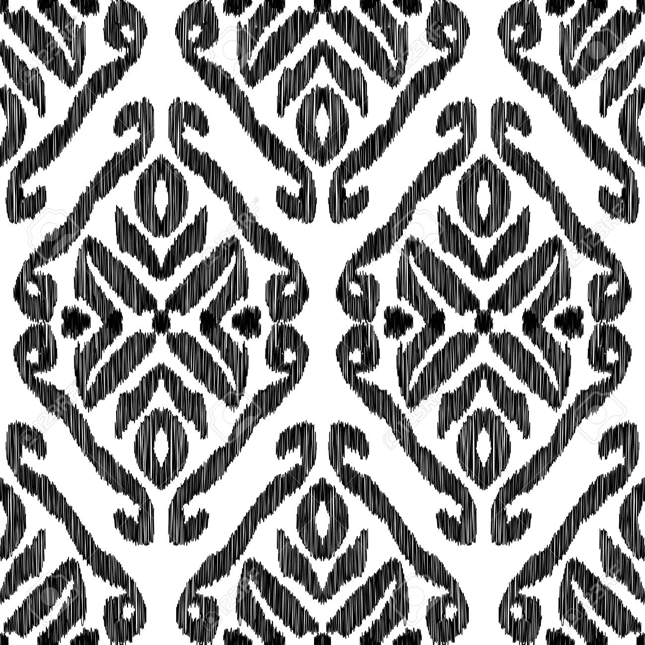 Seamless Pattern For Home Decor Ideas. Ikat Chevron Wallpaper. Ethnic,  Indian Fashion Style