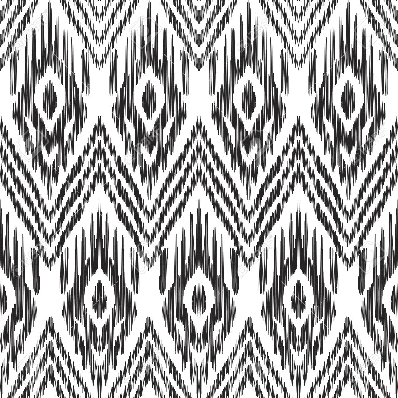 Seamless Pattern For Home Decor Ideas Ikat Chevron Wallpaper Ethnic Indian Aztec