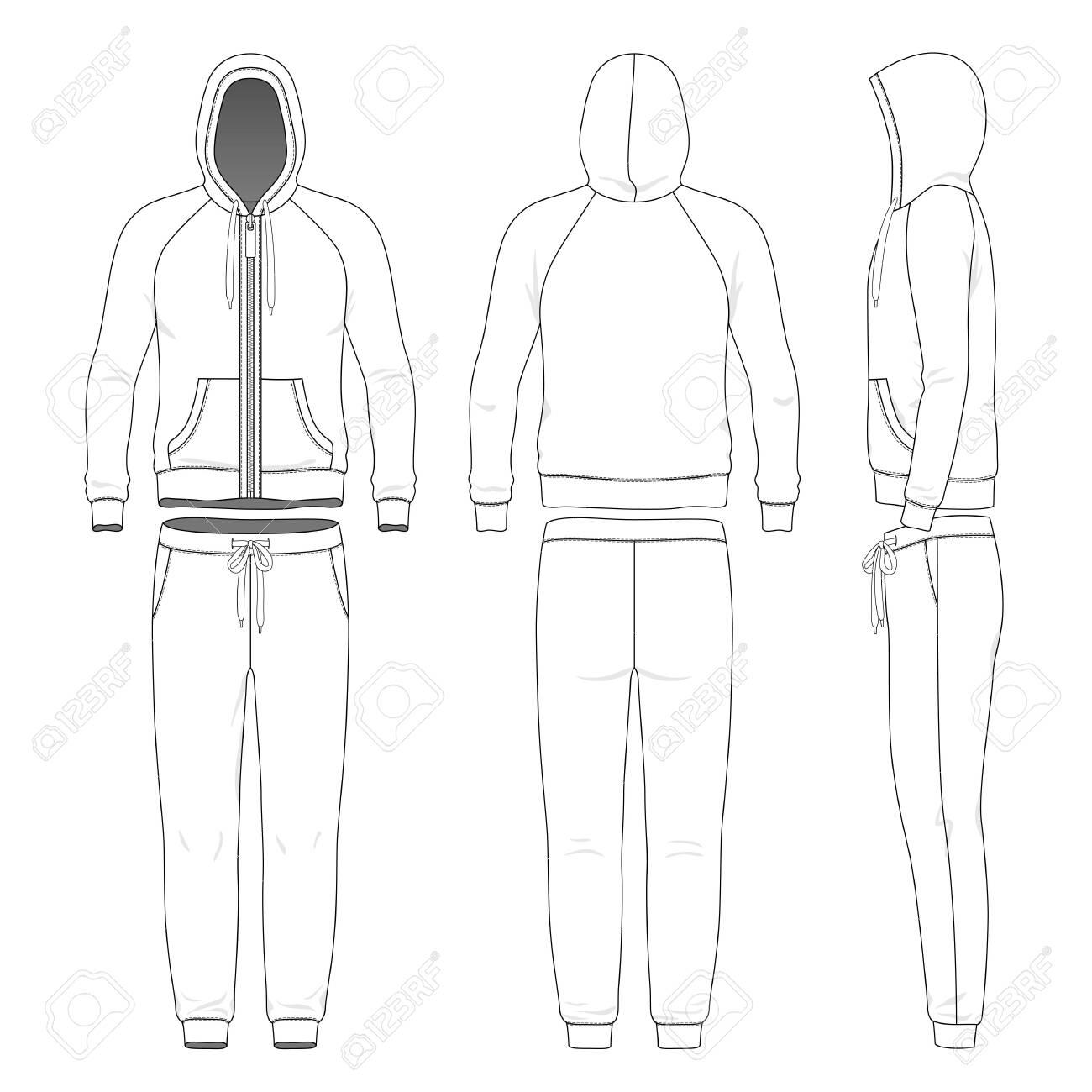 Clothing set of man hoodie and pants. - 134530536