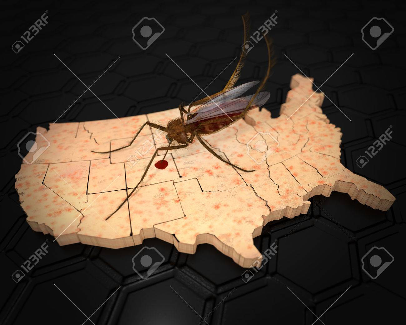 an ilration related to the outbreak of the zika virus in the us with a mosquito