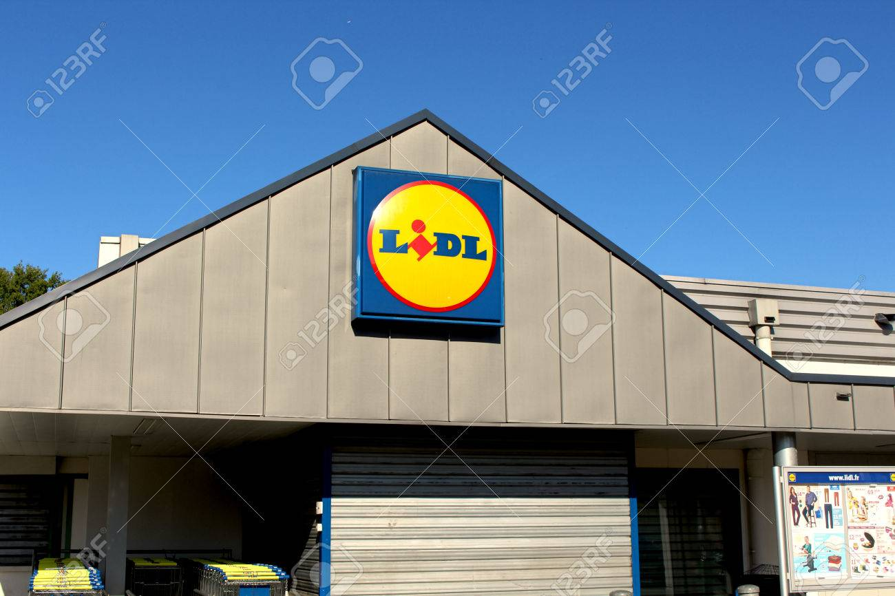 FRANCE - September 20, 2015: Lidl store  Lidl is a german company
