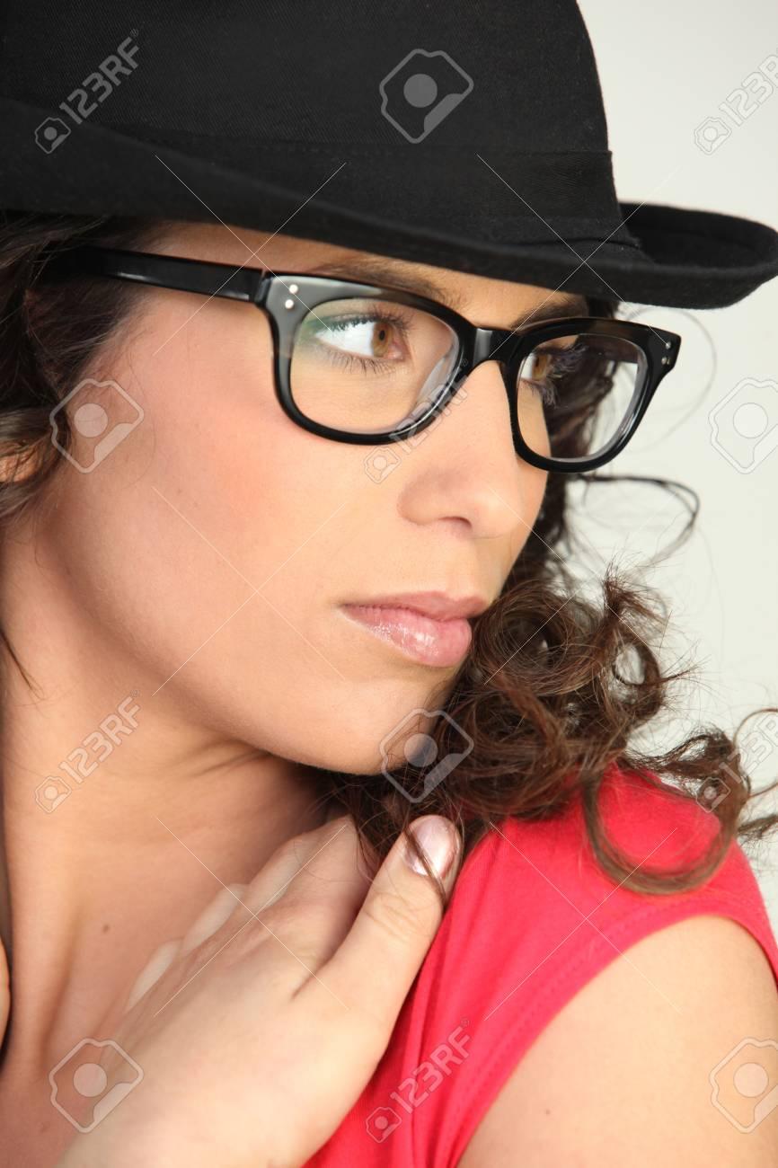 woman wearing a derby hat Stock Photo - 10747267