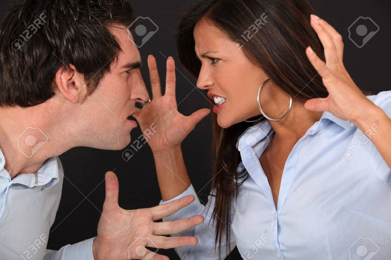 Couple having argument Stock Photo - 10853619