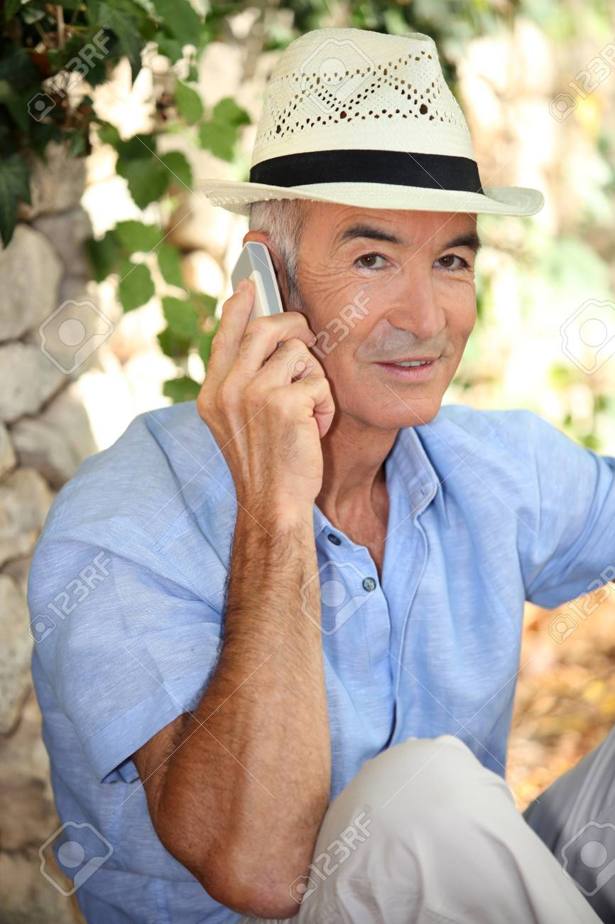 portrait of a man on the phone Stock Photo - 10854275