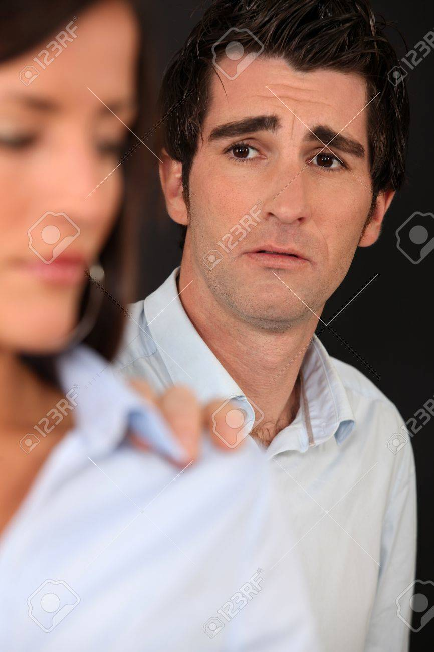 Man upset with his partner Stock Photo - 10855238