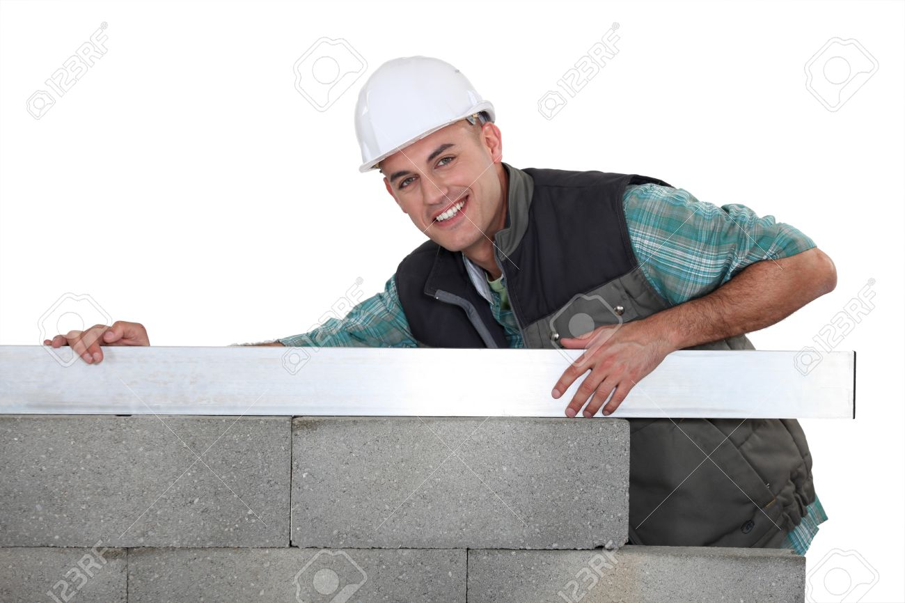 A mason building a wall. Stock Photo - 11049899
