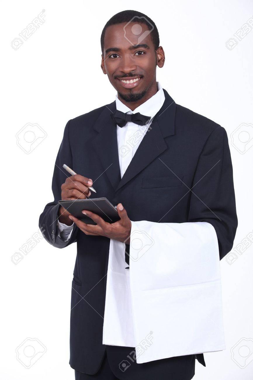Smart waiter taking order Stock Photo - 11049437