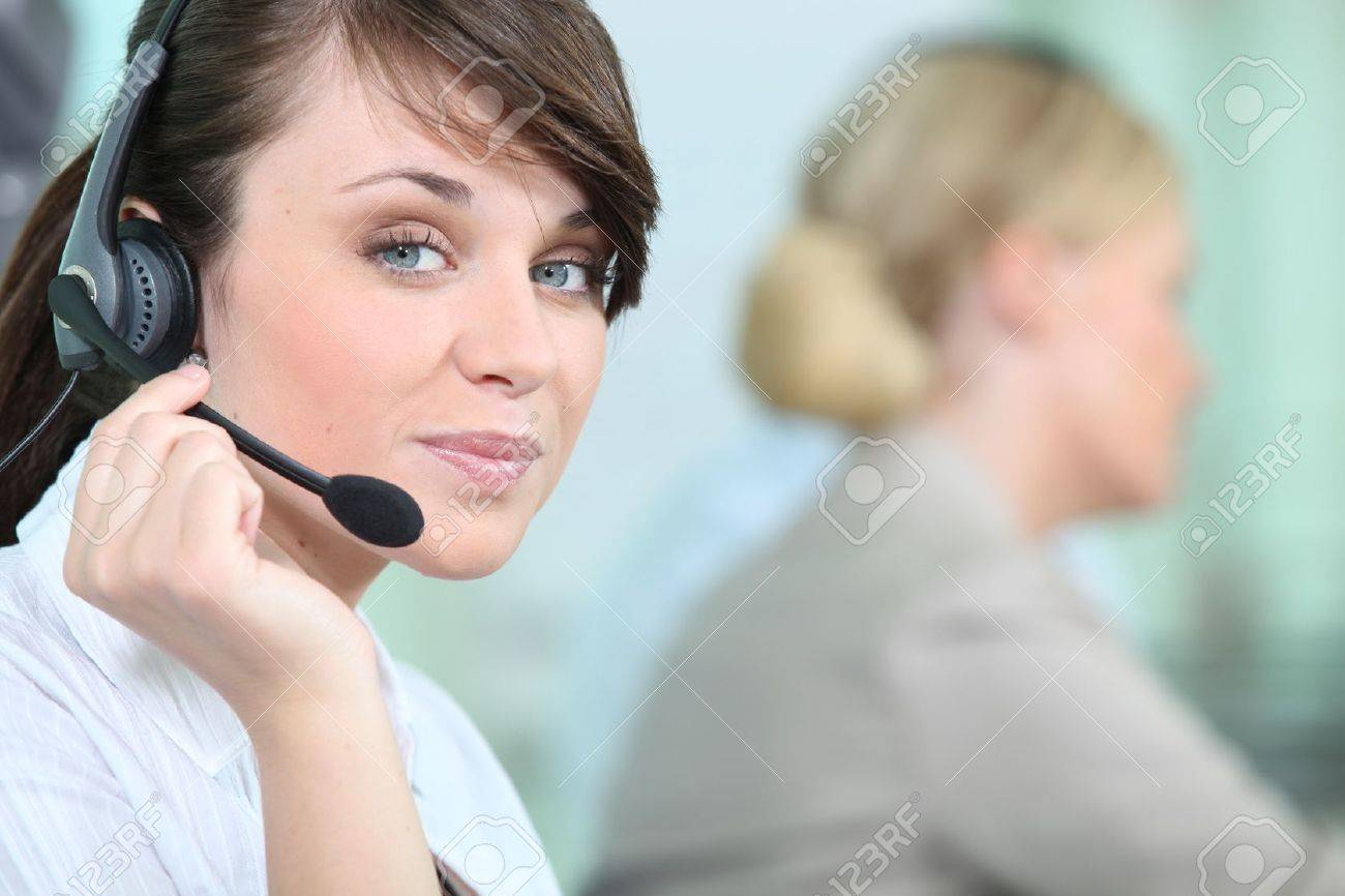 portrait of a woman with headset Stock Photo - 11051020