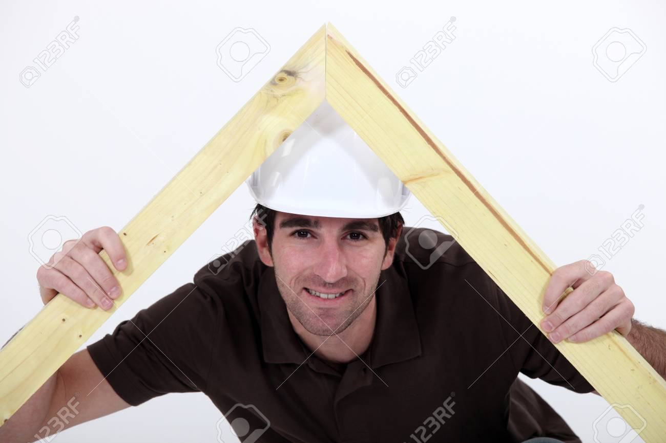 carpenter making a wooden frame Stock Photo - 11717738