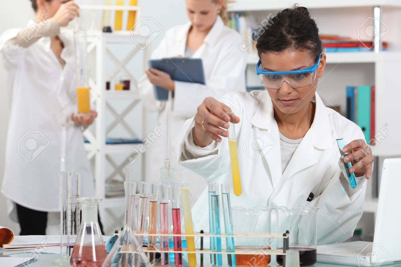 medical worker making tests in a laboratory Stock Photo - 11135352