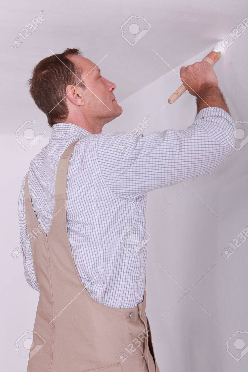 Man painting a room white Stock Photo - 11382949