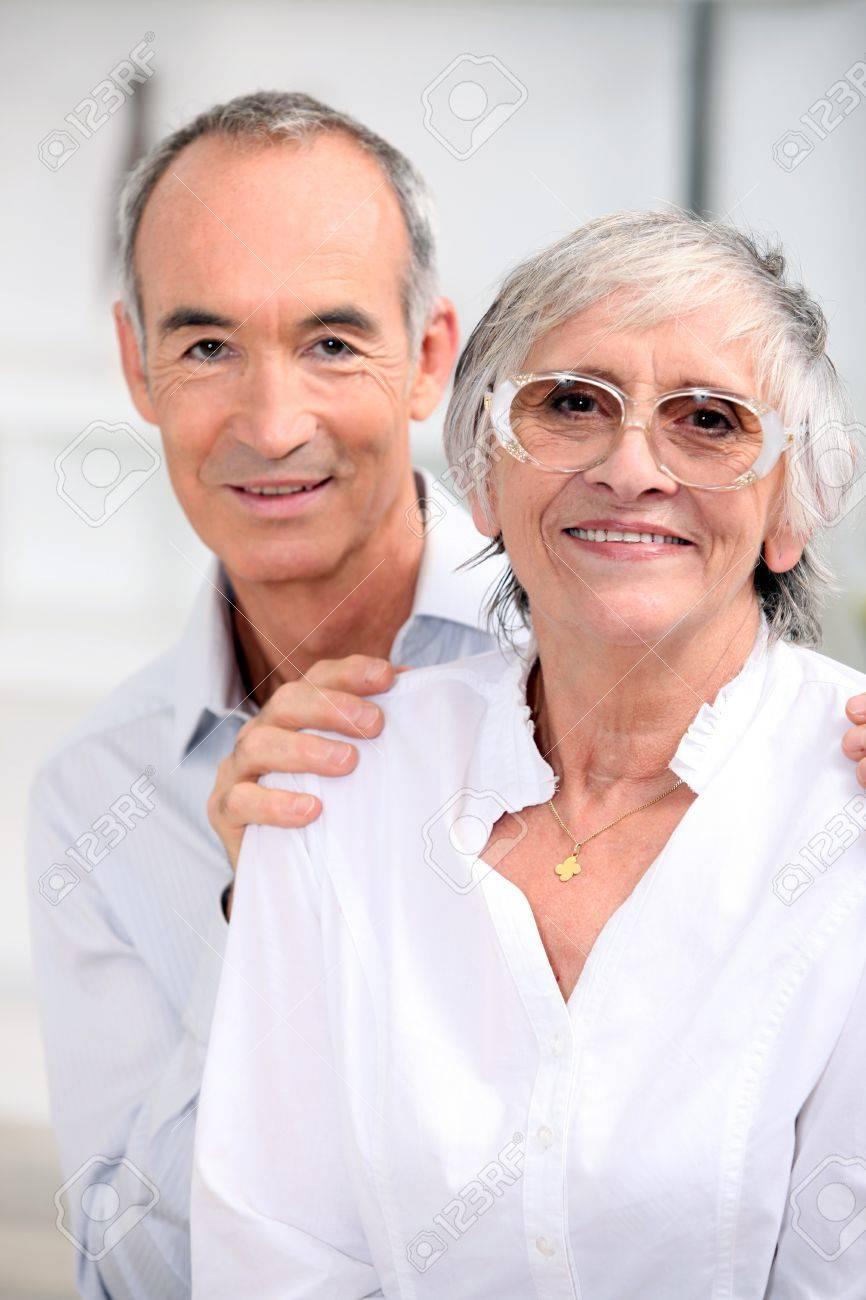 portrait of an older couple Stock Photo - 11382857