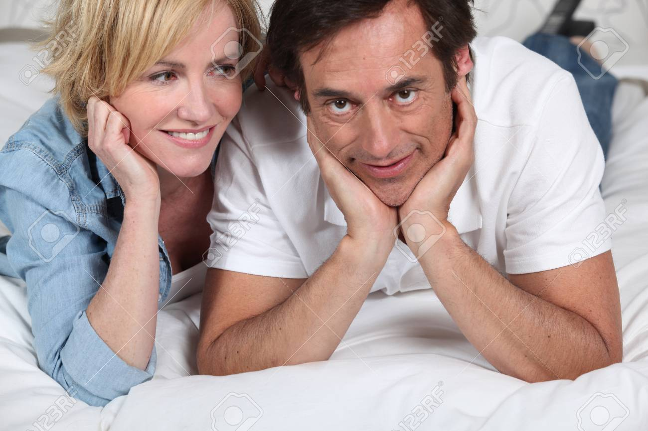 couple on bed Stock Photo - 11403665
