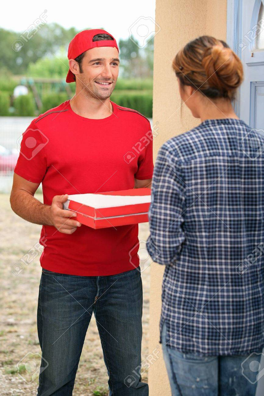 Pizza lad that man delivers