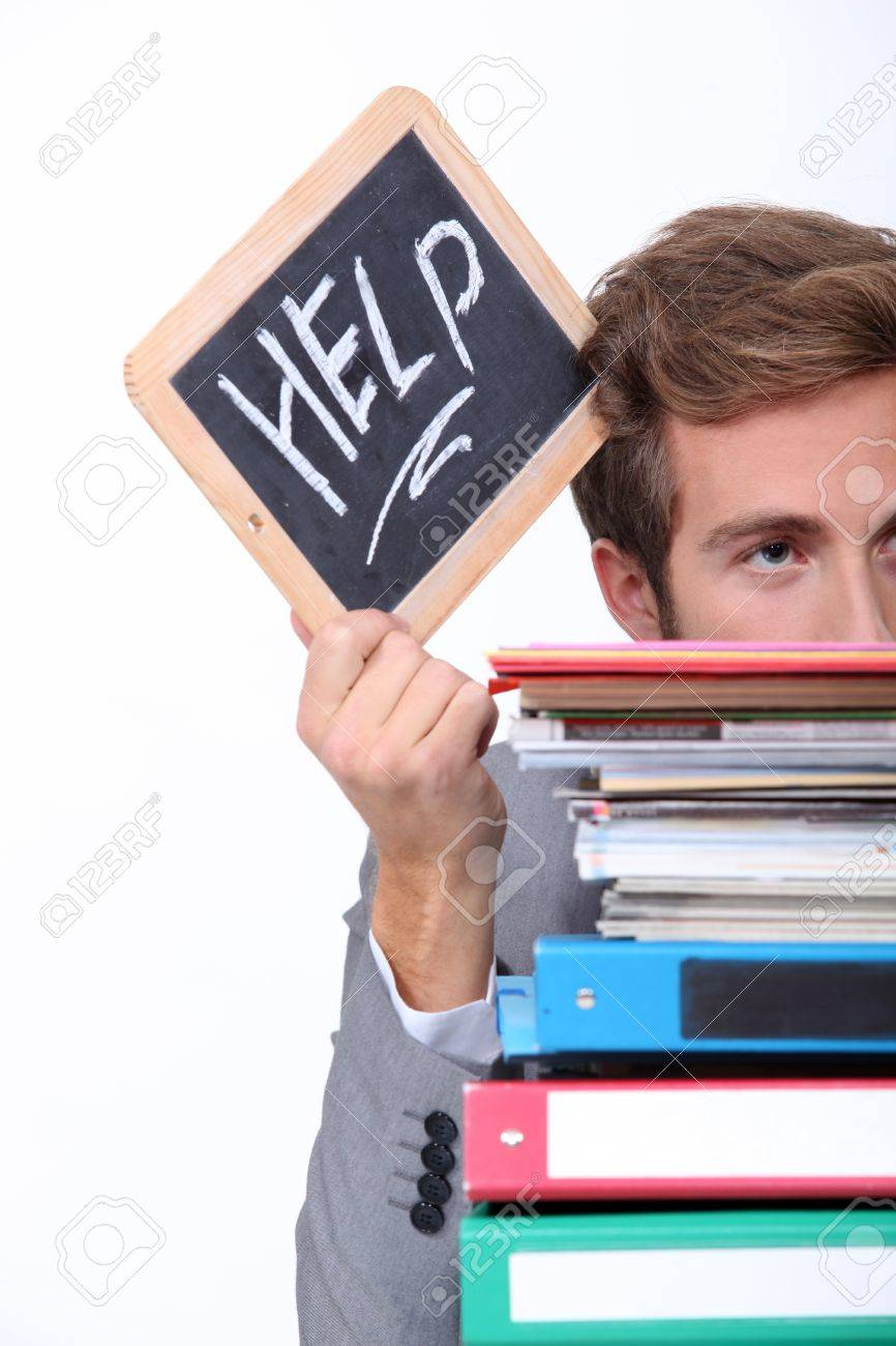 Stressed office worker Stock Photo - 11457170