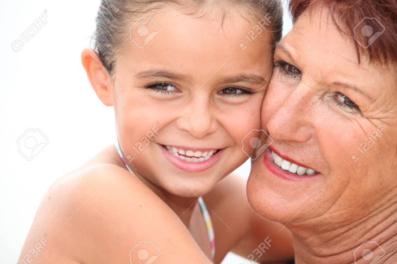 Grandmother and granddaughter Stock Photo - 11456005