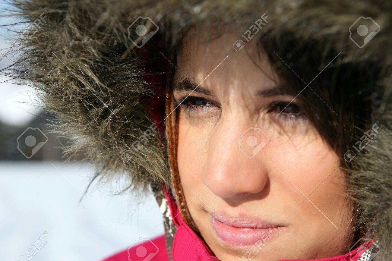 Woman wearing a parka Stock Photo - 11606062