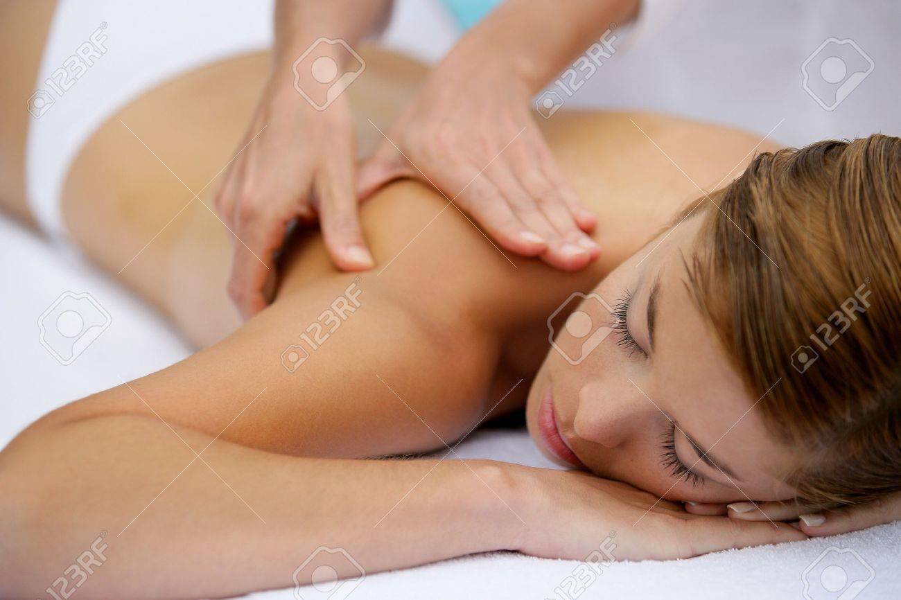 Girl having a back massage Stock Photo - 11754922