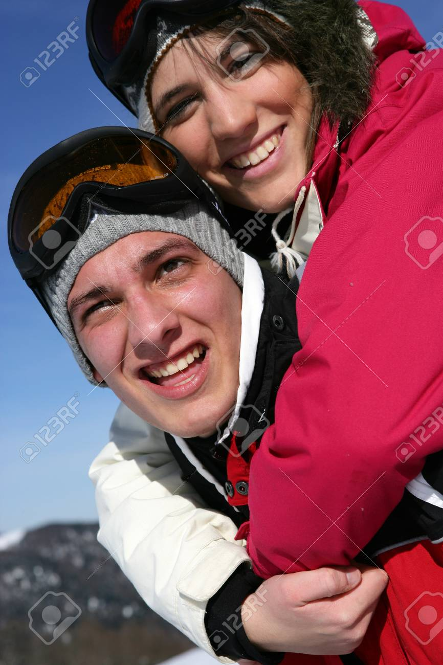teenagers on a ski vacation Stock Photo - 11755147