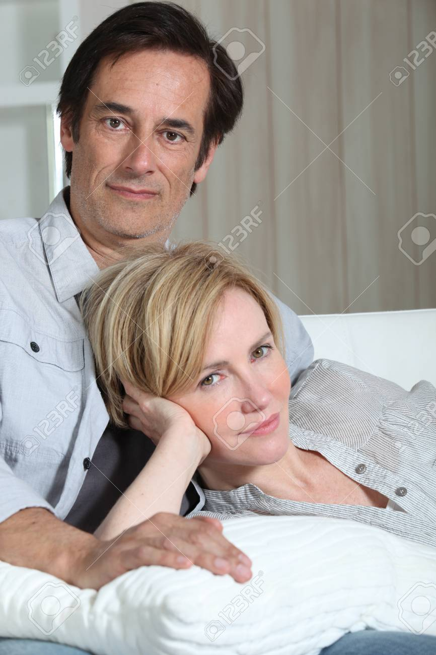 couple on a sofa Stock Photo - 11776589
