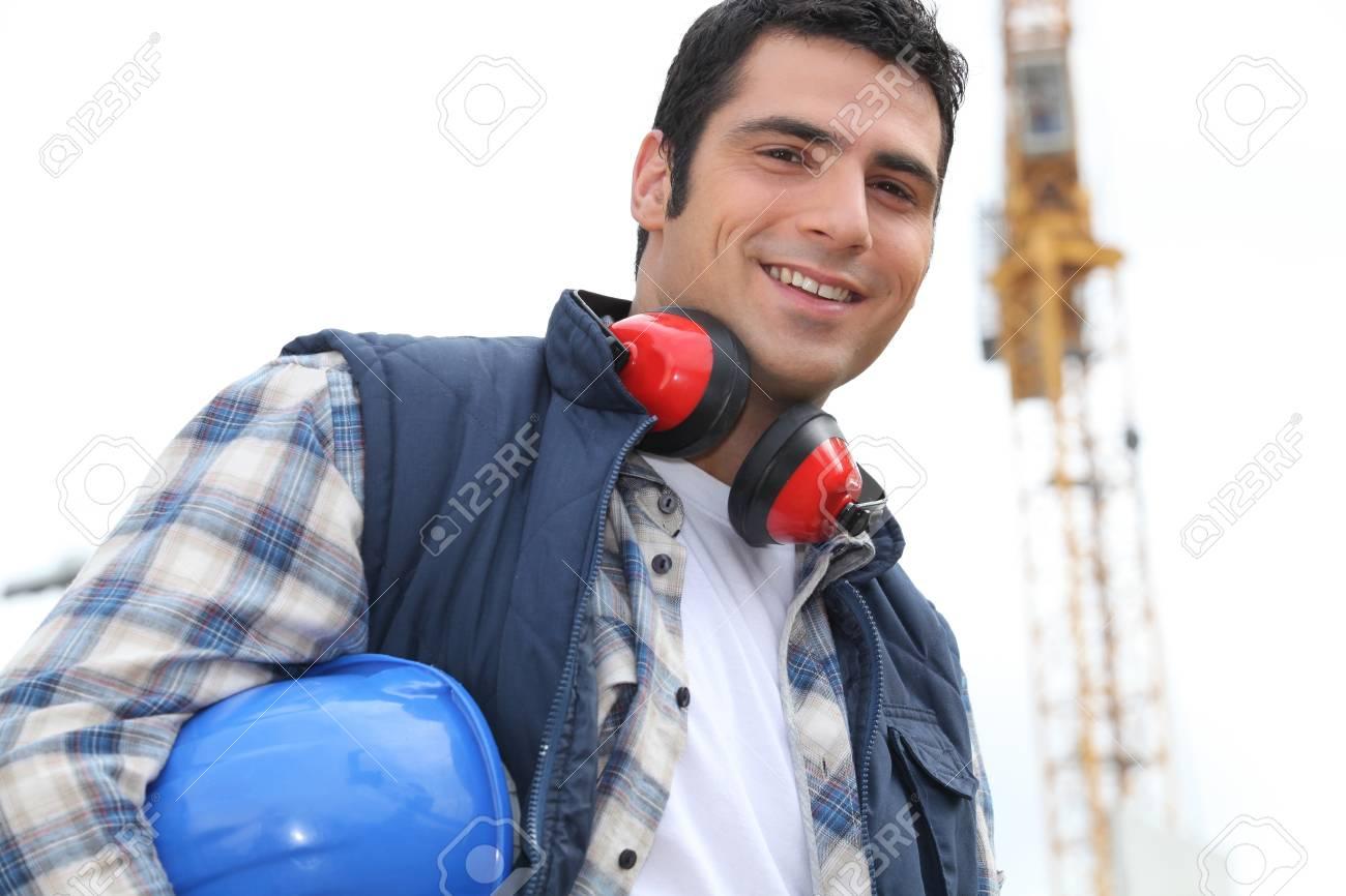 Portrait of happy foreman Stock Photo - 11843797